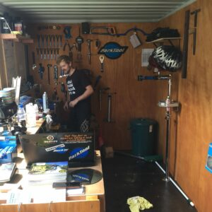 container bike shop workshop