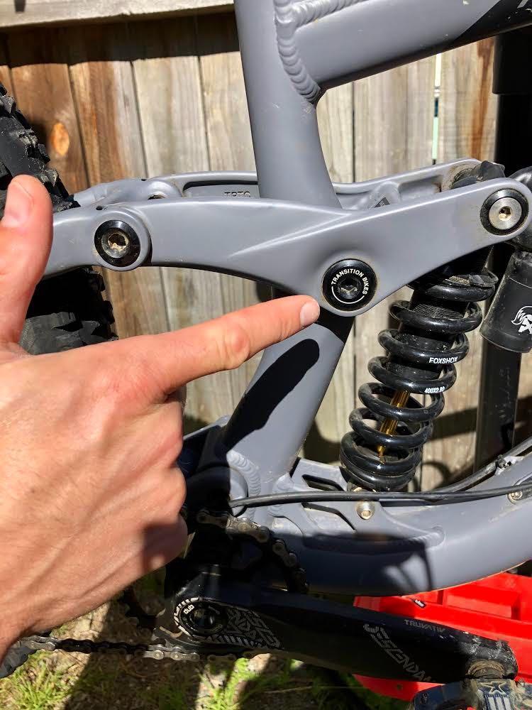 Mountain Bike Pivot Bolts