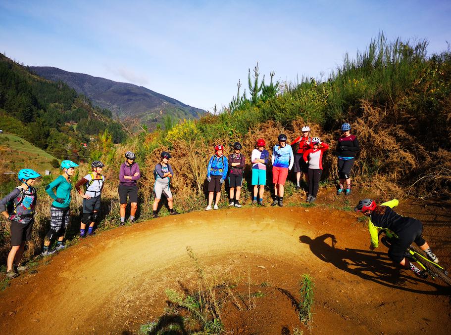 women mountain biking coaching courses