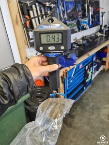 dirt found inside electric mountain bike